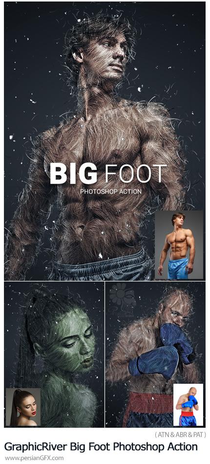 دانلود اکشن فتوشاپ ایجاد افکت پاگنده بر روی تصاویر به همراه آموزش ویدئویی از گرافیک ریور - GraphicRiver Big Foot Photoshop Action