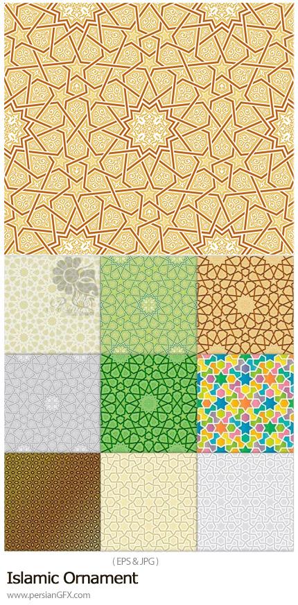دانلود پترن وکتور با طرح های اسلامی تزئینی - Islamic Ornament