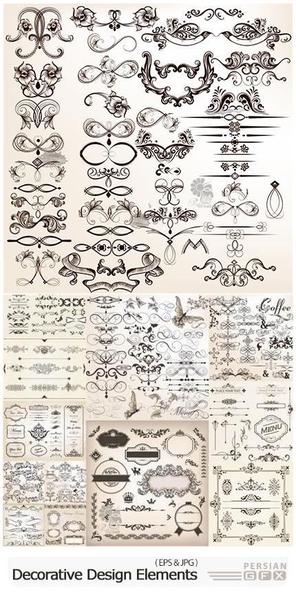 دانلود وکتور عناصر تزئینی متنوع - Decorative Design Elements