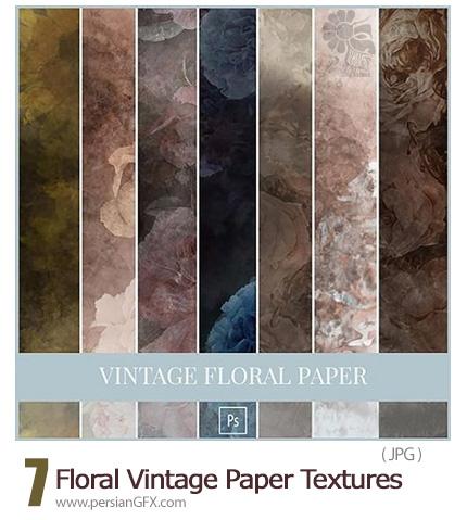 دانلود تکسچر کاغذی گلدار از آماندا دیاز - Amanda Diaz Floral Vintage Paper Textures