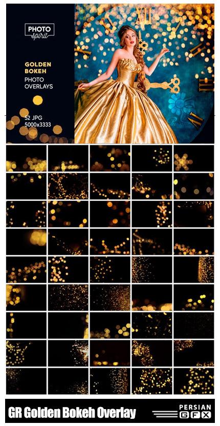 دانلود کلیپ آرت و اکشن فتوشاپ بوکه های طلایی از گرافیک ریور - GraphicRiver Golden Bokeh Photo Overlay Effects