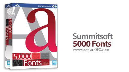 دانلود مجموعه فونت های Summitsoft به همراه نرم افزار مدیریت فونت - Summitsoft 5000 Fonts v1.0.0