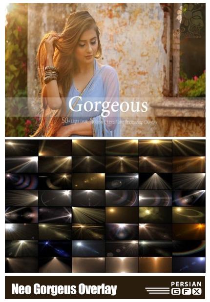 دانلود بیش از 50 کلیپ آرت انتشار نور - Thehungryjpeg Neo Gorgeus Overlay