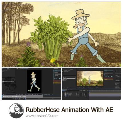 دانلود آموزش اسکریپت RubberHose برای ساخت انیمیشن دوبعدی در افترافکت از لیندا - Lynda RubberHose Animation With After Effects