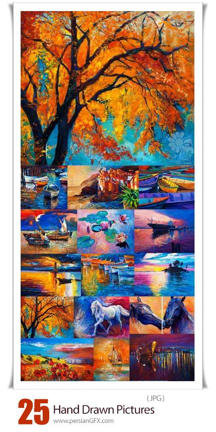دانلود تصاویر با کیفیت نقاشی های هنری دست کشیده - Hand Drawn Pictures