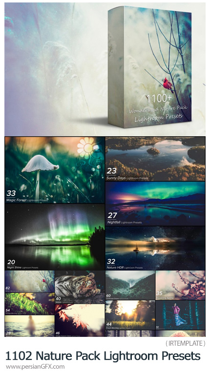 دانلود 1102 پریست آماده لایتروم با افکت های منظره و طبیعت - 1102 Wonderland Nature Pack Lightroom Presets