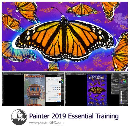 دانلود آموزش نرم افزار پینتر 2019 از لیندا - Lynda Painter 2019 Essential Training