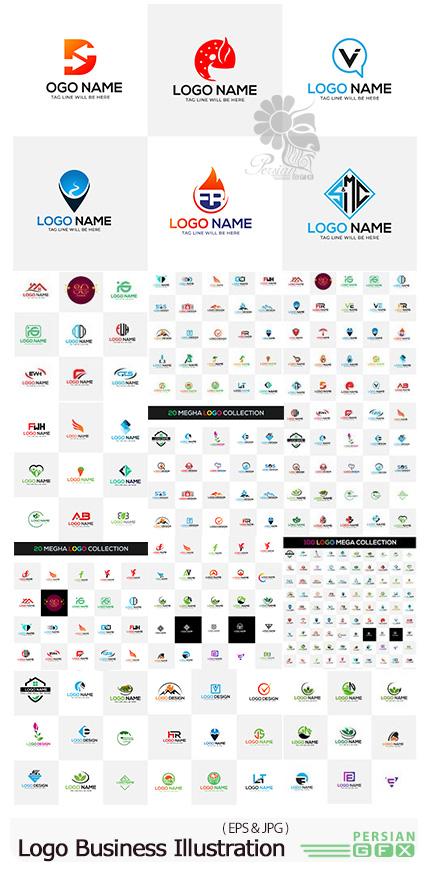 دانلود مجموعه وکتور آرم و لوگوی تجاری متنوع - Logo Business Vector Design Illustration