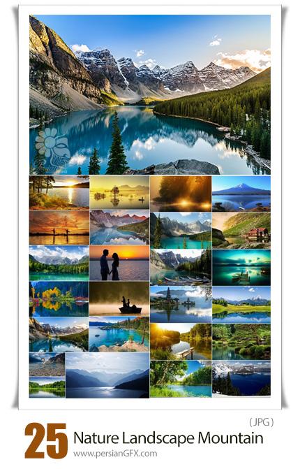دانلود تصاویر بسیار با کیفیت منظره، کوهستان، جنگل، دریاچه و ... برای چاپ قاب عکس - Lake Nature Landscape Mountain Forest Field Beach