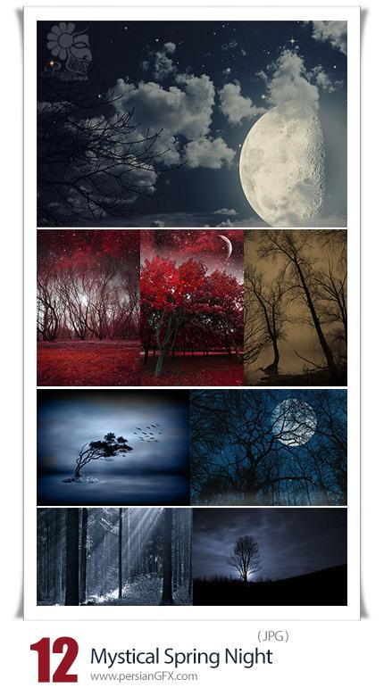 دانلود تصاویر با کیفیت شب های عاشقانه بهاری - Stock Images Mystical Spring Night