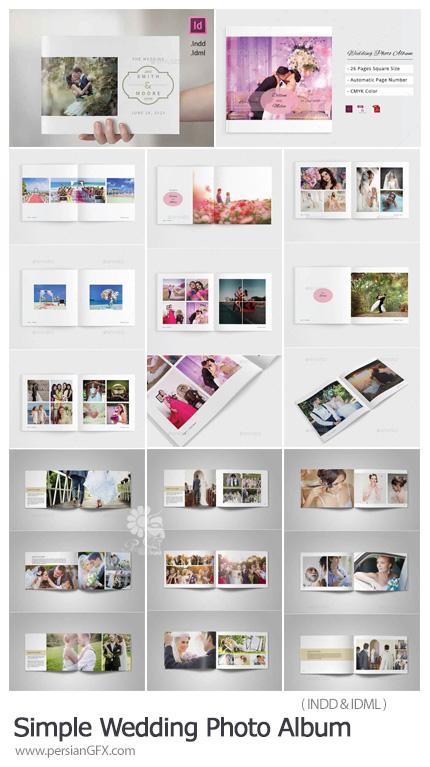 دانلود 2 قالب ایندیزاین آلبوم عکس عروسی - Simple Wedding Photo Album
