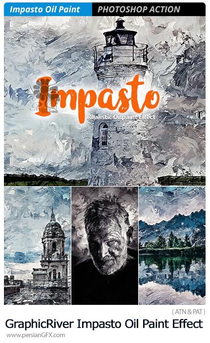 دانلود اکشن فتوشاپ تبدیل تصاویر به نقاشی رنگ روغن به سبک ایمپستو از گرافیک ریور - GraphicRiver Impasto Oil Paint Effect