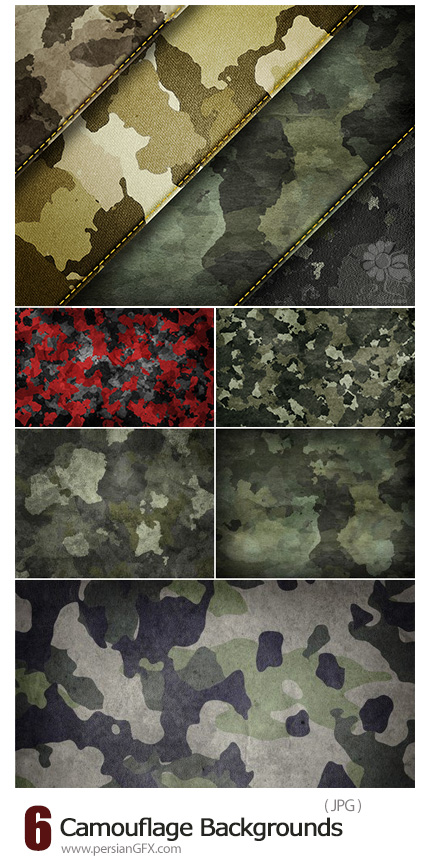 دانلود بک گراندهای با کیفیت چیریک و نظامی - Stock Photo Camouflage Backgrounds