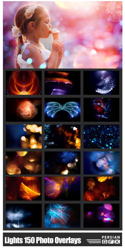 دانلود 150 کلیپ آرت بوکه، اشکال انتزاعی و تکسچرهای نورانی - Mystical Lights 150 Photo Overlays