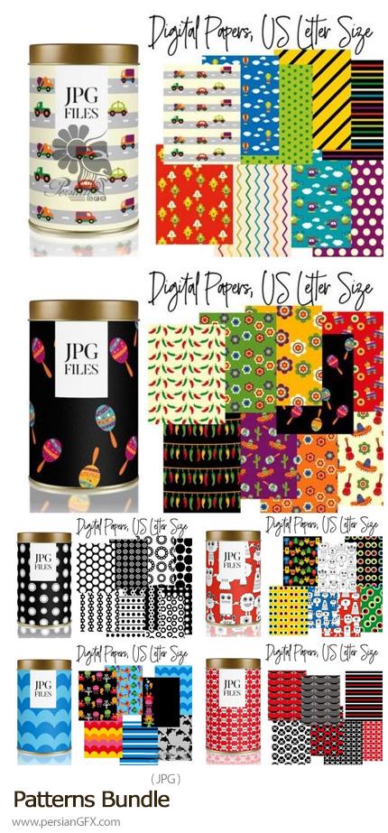 دانلود مجموعه پترن با کیفیت بالا و طرح های متنوع - Patterns Bundle