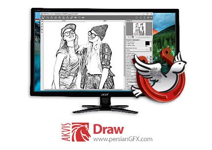 دانلود نرم افزار تبدیل عکس به طرح های نقاشی با مداد - AKVIS Draw v7.1.575.17438 x86/x64
