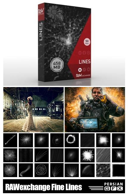 دانلود 50 کلیپ آرت المان های فانتزی شامل توپهای انرژی، اشعه های نورانی، خطوط انتشار نور و ... - RAWexchange Fine Lines