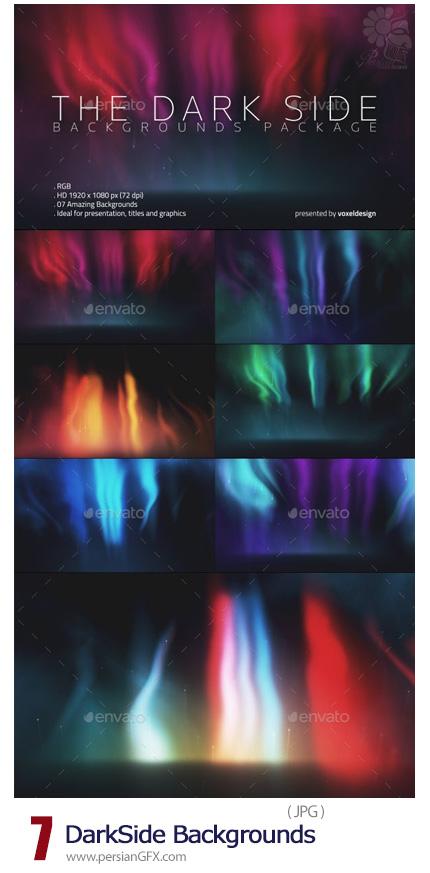 دانلود بک گراندهای با کیفیت تیره با نورهای رنگارنگ - DarkSide Backgrounds