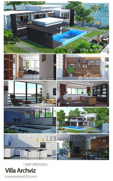 دانلود مدل های سه بعدی طراحی داخلی ویلا - Villa Archviz