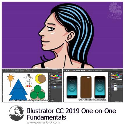 دانلود آموزش مقدماتی گام به گام نرم افزار ایلوستریتور سی سی 2019 از لیندا - Lynda Illustrator CC 2019 One-on-One: Fundamentals