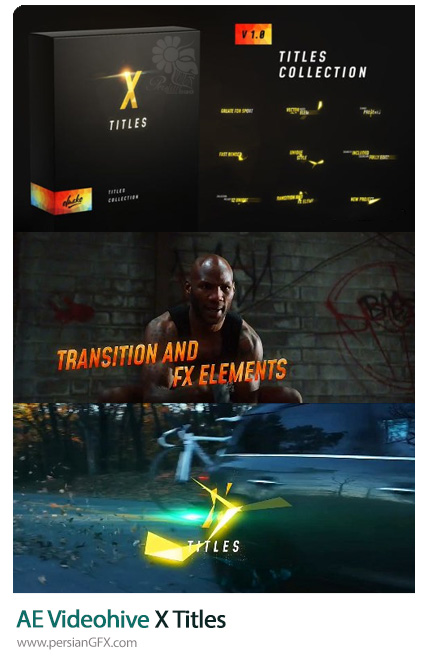 دانلود سابتایتل های نورانی برای ویدئو در افترافکت - Videohive X Titles