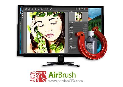 دانلود نرم افزار تبدیل عکس به طرح های نقاشی ایربراش - AKVIS AirBrush v6.1.691.17414 x86/x64