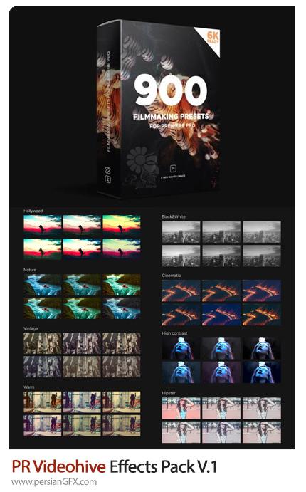 دانلود مجموعه پریست های آماده ویرایش ویدئو در پریمیر سی سی به همراه آموزش ویدئویی - Videohive Effects Pack V.1
