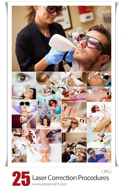 دانلود 25 عکس با کیفیت لیزر پوست و مو - Different  Laser Correction Procedures