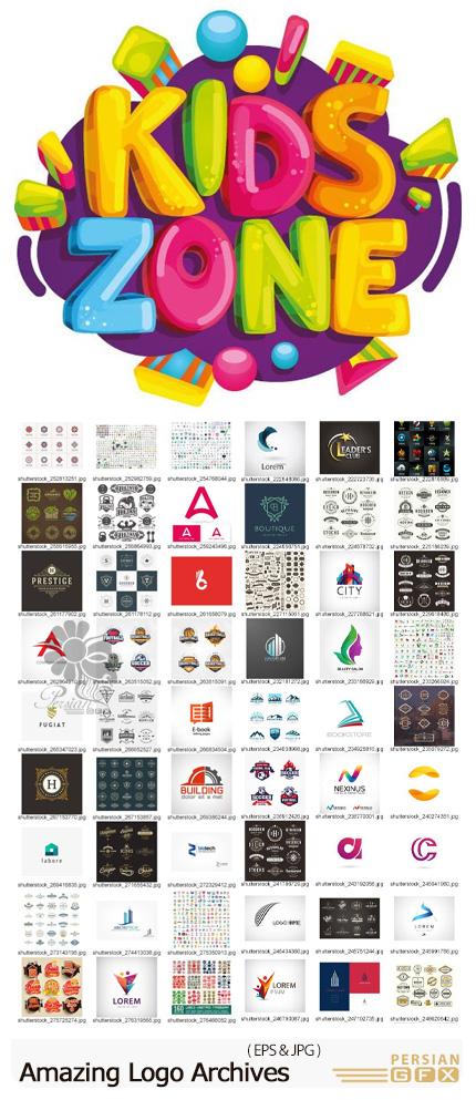 دانلود 750 وکتور آرم و لوگو با موضوعات متنوع از شاتراستوک - ShutterStock Amazing Logo Archives