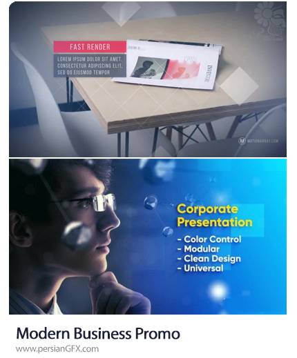 دانلود 2 پروژه افترافکت پرزنتیشن تجاری - Modern Business Promo