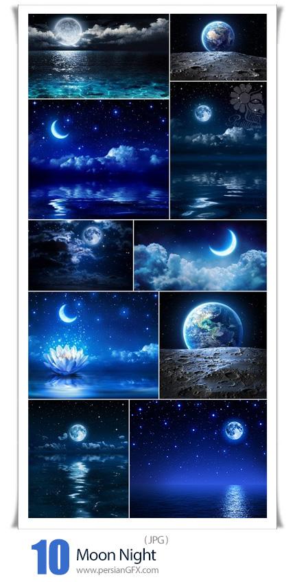 دانلود 10 عکس با کیفیت ماه در شب - Moon Night