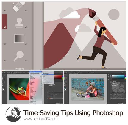 دانلود آموزش فتوشاپ نکاتی برای صرفه جویی در زمان کار - Lynda Time-Saving Tips Using Photoshop