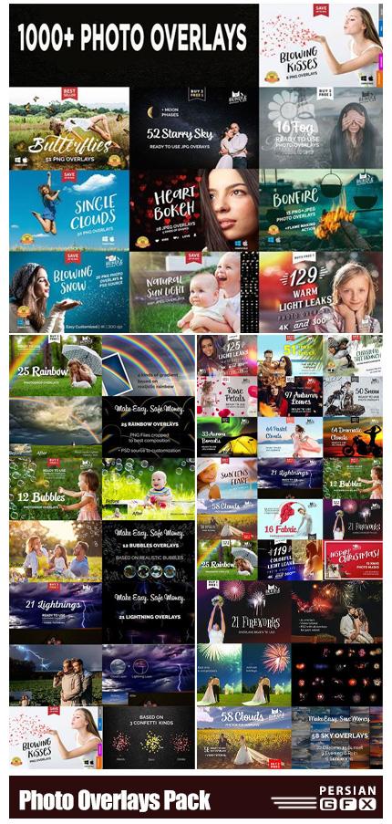 دانلود بیش از 1000 افکت تصویر پوششی برای ویرایش عکس ها در فتوشاپ - +1000 Photo Overlays Pack