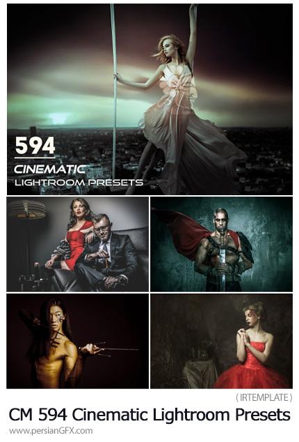 دانلود 594 پریست آماده لایتروم با افکت های سینمایی - CreativeMarket 594 Cinematic Lightroom Presets