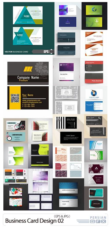 دانلود 25 کارت ویزیت با طرح های گرافیکی متنوع - Business Card Design 02