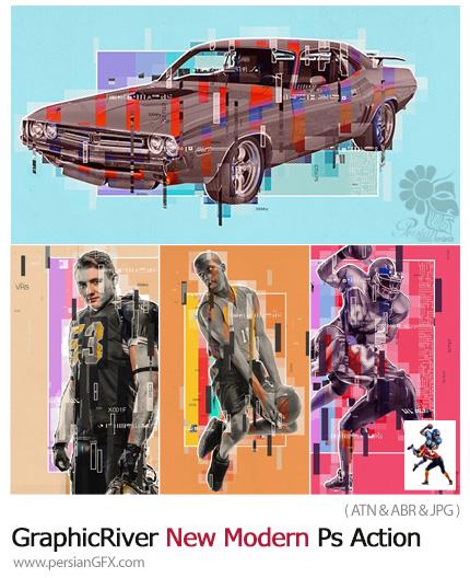 دانلود اکشن فتوشاپ تبدیل تصاویر به پوستر هنری مدرن - GraphicRiver New Modern Photoshop Action