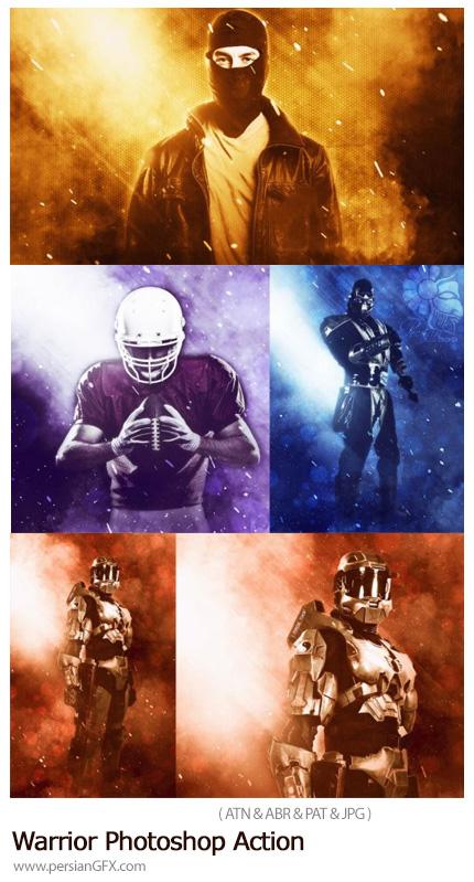 دانلود اکشن فتوشاپ ایجاد افکت جنگجو بر روی تصاویر - Warrior Photoshop Action