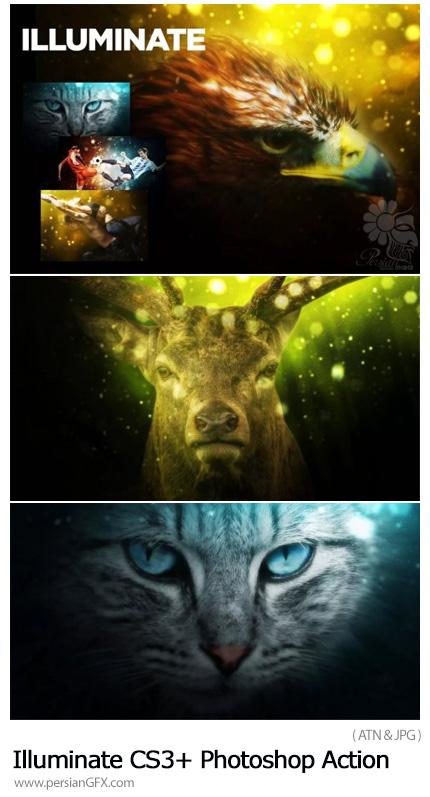 دانلود اکشن فتوشاپ درخشان کردن تصاویر - Illuminate CS3+ Photoshop Action