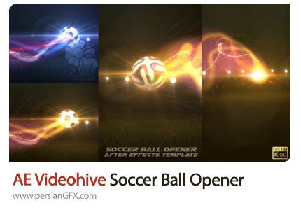 دانلود پروژه افترافکت اوپنر توپ ورزشی - VideoHive Soccer Ball Opener