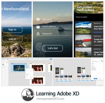 دانلود آموزش نرم افزار ادوبی ایکس دی از لیندا - Lynda Learning Adobe XD