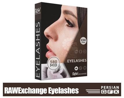 دانلود مجموعه کلیپ آرت مژه - RAWExchange Eyelashes