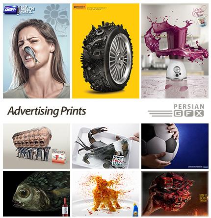 دانلود 100 تصویر تبلیغاتی خلاقانه - 100 Advertising Prints