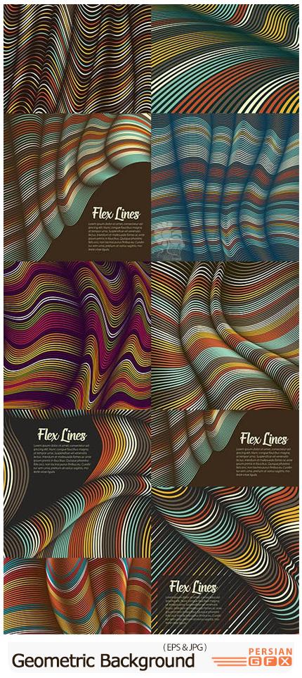 دانلود وکتور بک گراندهای تزئینی هندسی - Creative Blend Decorative Geometric Background