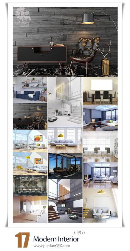 دانلود 17 عکس با کیفیت طراحی داخلی مدرن خانه، شرکت و کتابخانه - Modern Interior