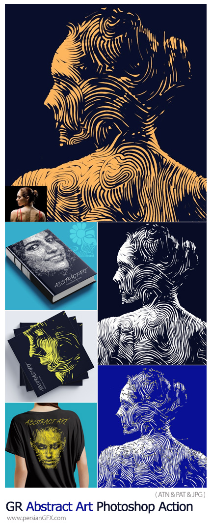 دانلود اکشن فتوشاپ ساخت تصاویر هنری انتزاعی به همراه آموزش ویدئویی - GraphicRiver Abstract Art Photoshop Action