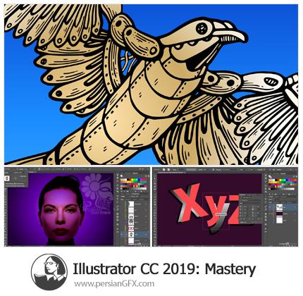 دانلود آموزش جامع تسلط بر ایلوستریتور سی سی 2019 - Lynda Illustrator CC 2019 One-on-One: Mastery