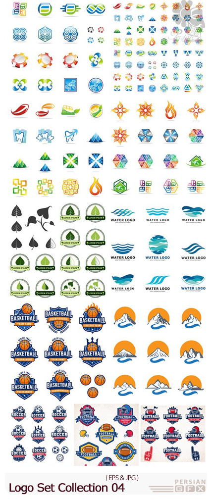 دانلود وکتور آرم و لوگوهای متنوع - Logo Set Collection 04