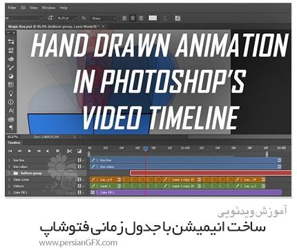 دانلود آموزش ساخت انیمیشن به صورت دستی با تایم لاین فتوشاپ - Skillshare Hand Drawn Animation With Photoshops Video Timeline