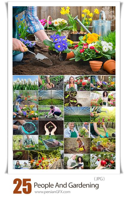 دانلود 25 عکس با کیفیت از گلخانه و باغبانی - People And Gardening