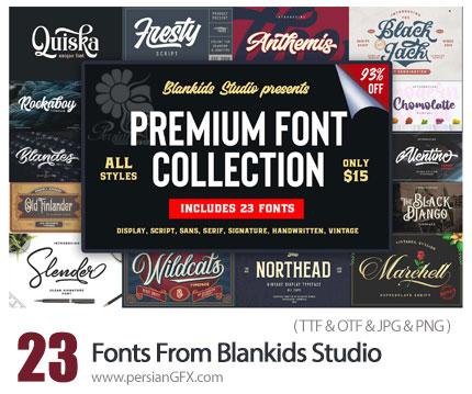 دانلود 23 فونت انگلیسی با طرح های متنوع - MightyDeals 23 Premium Fonts From Blankids Studio
